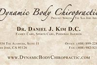Dynamic Body Chiropractic business card