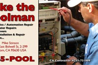 Mike Poolman pool electronics business card
